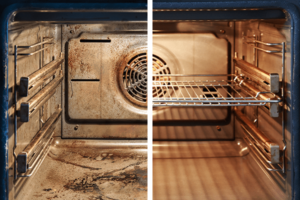 tips på att rengöra ugn och kylskåp