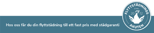 flyttstädningsakuten i Umeå